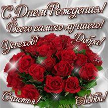 Открытка с днем рождения красные розы